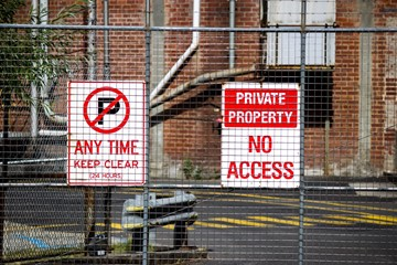 Private Property Sign with no access